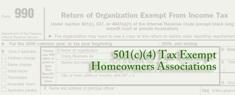 501(c)(4) Tax Exempt Homeowners Associations